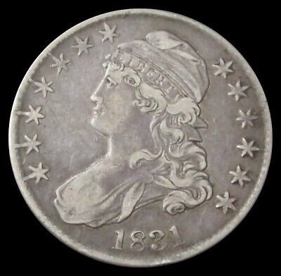 1831 Capped Bust Half Dollar 50C Us Coin Extra Fine Condition