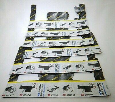Sweat Absorbing Hard Hat Liner Disposable 6 Pack by No Sweat  T3