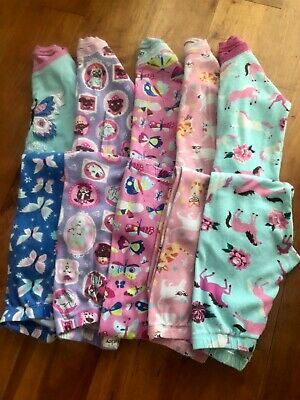 5 x Pairs Girls Hatley Pyjamas PJs Age 5 Years