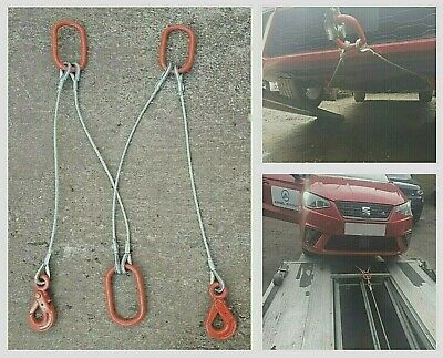 Brother Strap Splitter Recovery Heavy Duty Metal Winch Tow Safety Hooked 4 Tonne