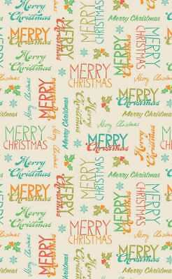 8 A4 Sheets of Christmas Words Cardstock - Assorted Coloured Words 300gsm New