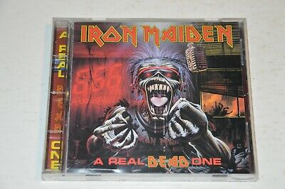 Iron Maiden ‎– A Real Dead One CD (1993, 1ST Ed) EXCELLENT! Music Club w/poster