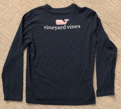 Vineyard Vines Blue Whale Long Sleeve T-Shirt--Size XL (18)--Authentic