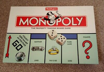 Waddingtons Monopoly The property Board Game 1996 CompleteRich Uncle Pennybags