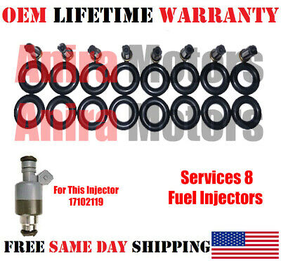 SET OF 8 ROCHESTER FUEL INJECTOR 1994-1995 CADILLAC DEVILLE 4.9L V8