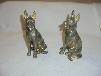 Vintage Pot Metal or Spelter German Shepherd Dog Statue Figurine