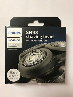NEW PHILIPS NORELCO SH98/72 GENUINE REPLACEMENT HEADS- 9000 Series in Sealed Box