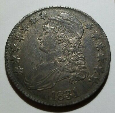 1831 Capped Bust Half Dollar Nice About Uncirculated Details - Good Luster