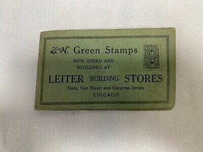 Vintage Antique S & H Green Stamps Advertising Sewing Needle Book (A4)