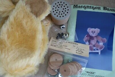 MacGregor Bears McGEE Teddy Bear Making KIT pattern fur joint set eyes GROWLER