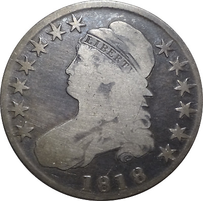 1818 Capped Bust Silver Half Dollar