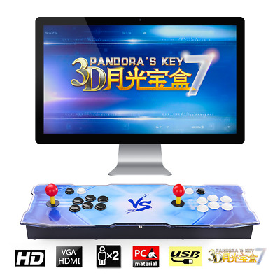 3D Pandora's Box Key 7 Retro 2/4 Players Arcade Game Console Cabinet 2413 Games
