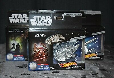 Lot of 5 Star Wars Hot Wheels Starships Commemorative Series Build a Death Star