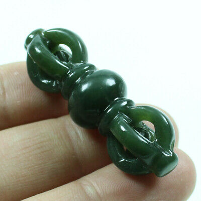 Certified Grade Natural Green Hetian Jade Pendants King kong multiplier z247