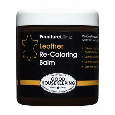 Furniture Clinic Leather Recoloring Balm - Leather Color Restorer for Furniture,