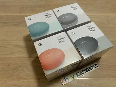 NEW SEALED Google Home Mini Smart Small Speaker CHALK CHARCOAL AQUA CORAL