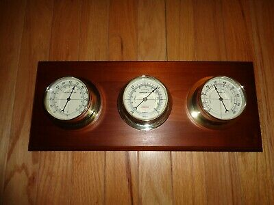 Vintage Sunbeam Weather Station Barometer Thermometer Humidity 16043 Made in USA