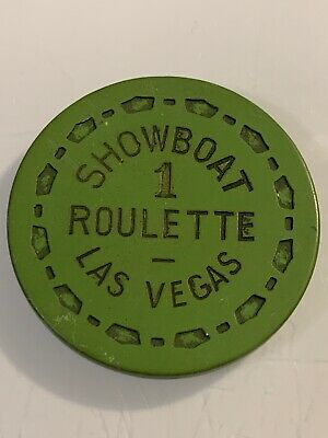SHOWBOAT ROULETTE Casino Chip Las Vegas Nevada 3.99 Shipping