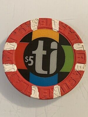 TREASURE ISLAND $5 Casino Chip Las Vegas Nevada 3.99 Shipping