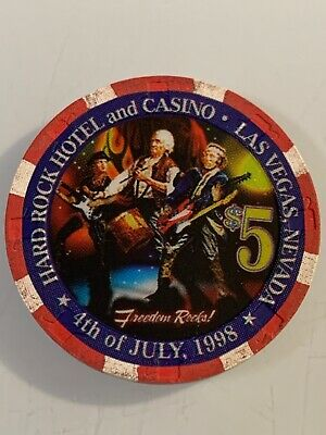 HARD ROCK HOTEL $5 Casino Chip Las Vegas Nevada 3.99 Shipping