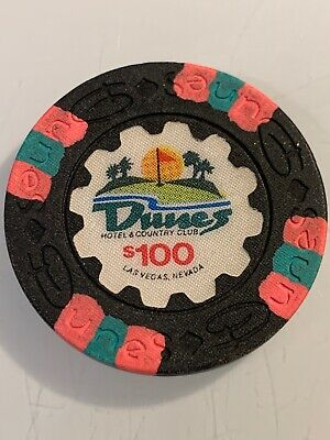 DUNES HOTEL $100 Casino Chip Las Vegas Nevada 3.99 Shipping