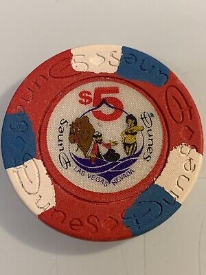 DUNES HOTEL $5 Casino Chip LAS VEGAS Nevada 3.99 Shipping