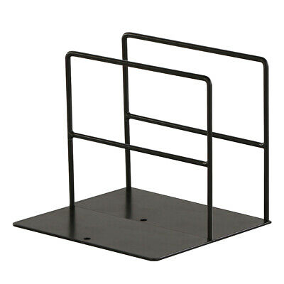 Pairs Wrought Iron Bookend Organizer Stand Office Stationery Books Shelf