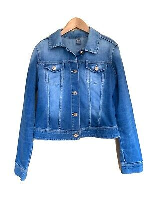 Zara Girls Denim Jacket Age 11 12 Blue Casual Day Pockets Excellent condition