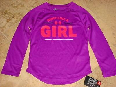 Nwt Under Armour Performance Hunt Like A Girl Long Sleeve Shirt Purple Sz 5