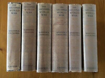 WINSTON S. CHURCHILL. THE SECOND WORLD WAR. 1st EDITION. 6 VOLUME SET.