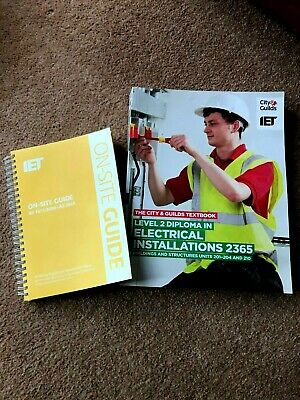 City and Guilds IET Electrical Installations Level 2 2365 ,2 BOOKS(ONsite-Guide)