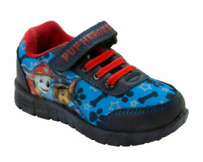 Paw Patrol Boys Low Top Sports Trainers Shoes Blue UK Sizes Child 5-10