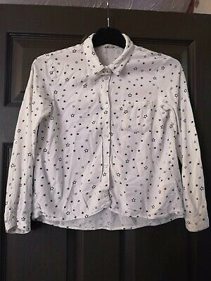 Girls White Star Print Blouse - 10-11 Years