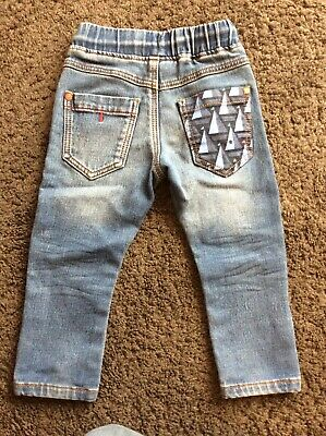 Toddler Boys Next Sail Sailor Denim Pull On Jeans Trousers 12-18 Months