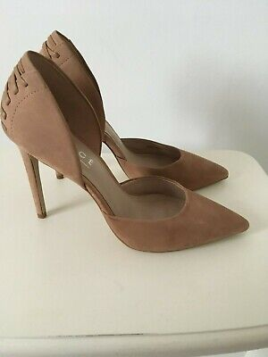 Ladies light brown suede leather heeled court shoes size 6 from Office-London