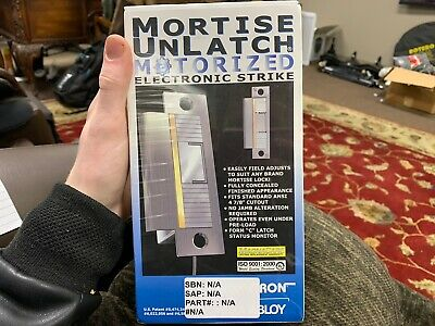 Securitron Mortise UnLatch Motorized Electronic Strike MUNL-24 VDC Satin Chrome