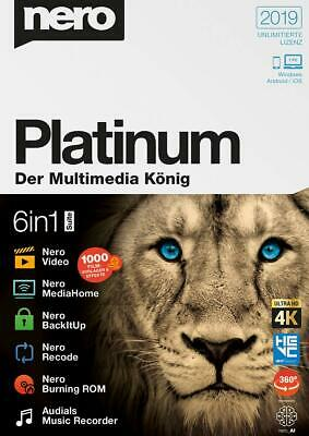 Nero 2019 Platinum - Download Version für Windows