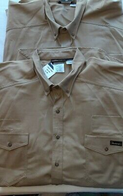 Lot Of 2 Workrite FR Fire Resistant Protera HRC 2 Button Up Work Shirts Size 4XL