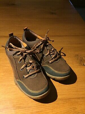 Ladies Merrell Brown Suede Lace Up Walking Shoe Sturdy Non Slip Size 4/37. VGC