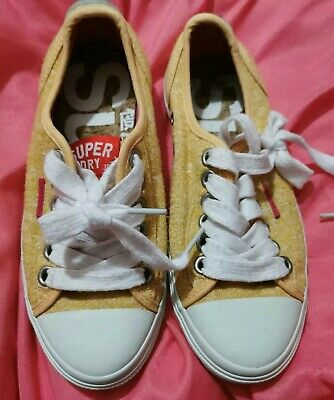Superdry Yellow Trainers Casual Shoes UK 4 worn only a couple of times