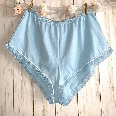 Vintage Vanity Fair Breif Panties Shorts Sexy Cotton Polyester Blue Size Medium