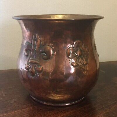 Vintage Antique Art Nouveau copper jardinière Arts & Crafts planter plant pot
