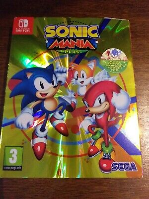 Sonic Mania Plus Inc Artbook and Sleeve (Nintendo Switch)