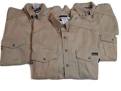 Lot Of 3 Workrite FR Fire Resistant Protera HRC 2 Button Up Work Shirts Size L