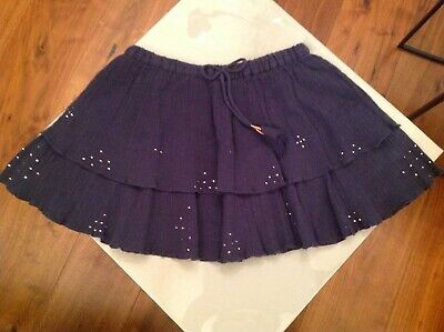 Bonpoint Girls Layered Skirt - age 4 years - navy (with sparkle accents) - New!