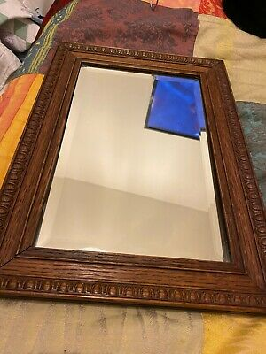 Vintage Antique  Arts & Crafts Style Wall Mirror