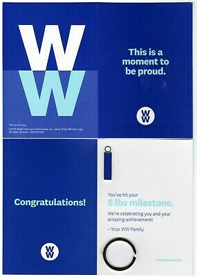 NEW Weight Watchers WW 5 POUND MILESTONE Blue CHARM Weight Loss Recognition