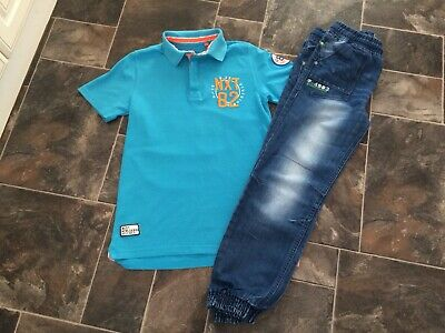 Next Polo Shirt And Jeans Bundle Boys Age 12 Years (New Without Tags)