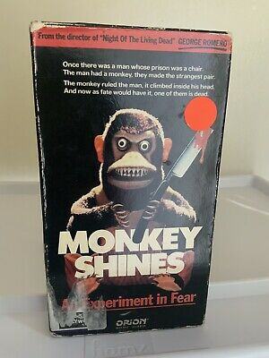 Monkey Shines: An Experiment In Fear 1988 Vhs Orion Horror George Romero Slasher