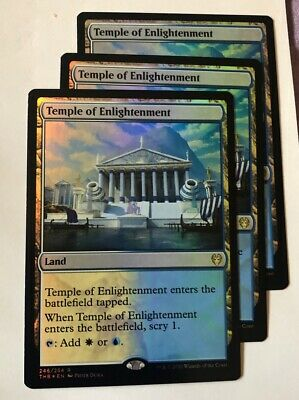 3x Foil Temple of Enlightenment  x3 - MTG Theros Beyond Death Magic English